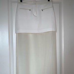Bcbgmaxazria White Maxi Skirt